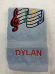 MUSICAL NOTES PERSONALISED FACE CLOTH